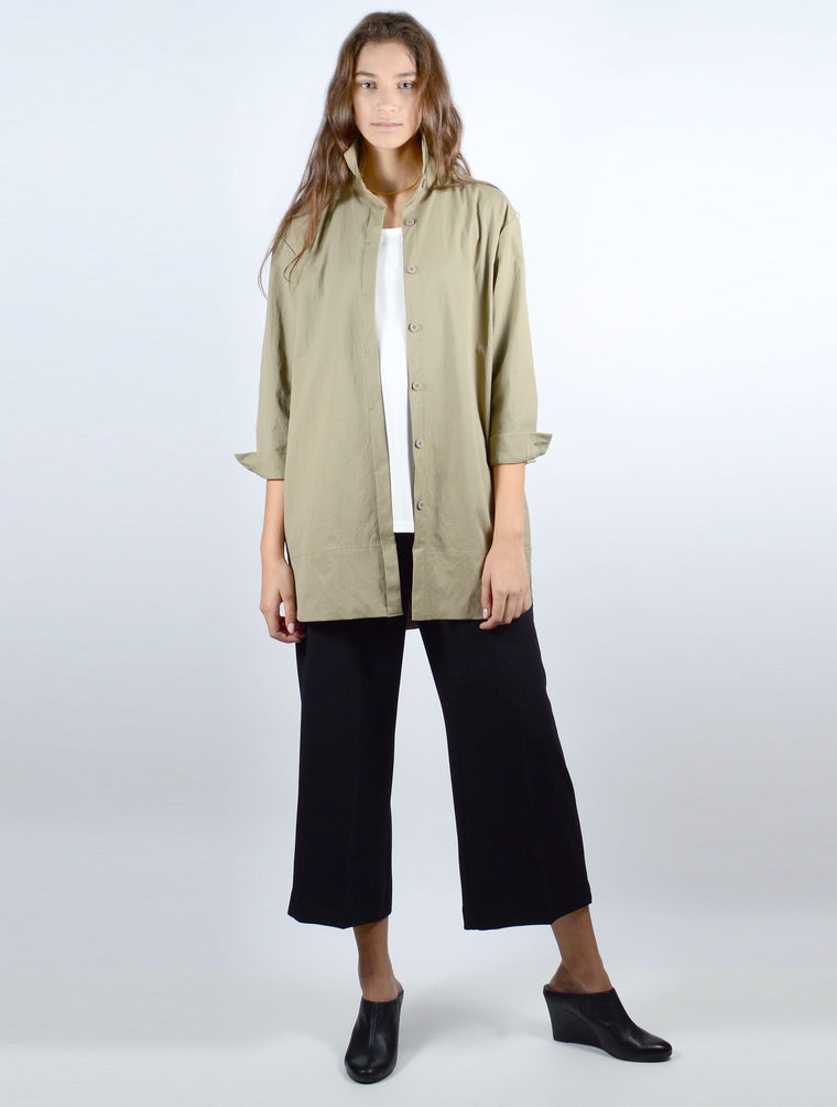 Shirt Jacket in Khaki 7007