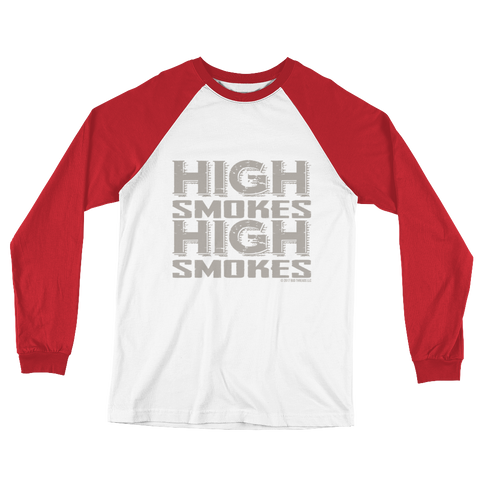High Smokes-Long Sleeve Baseball T-Shirt