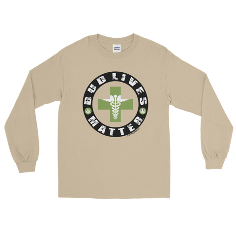 Bud Lives Matter-Circle Green Med Cross Long Sleeve T-Shirt