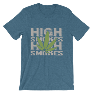 High Smokes Leaf-Short-Sleeve Unisex T-Shirt