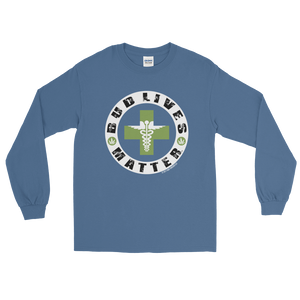Bud Lives Matter-Circle Green Med-Rev Cross Long Sleeve T-Shirt