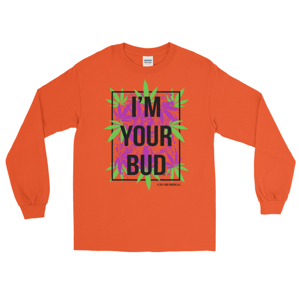 I'm Your Bud-Leaves Purple Long Sleeve T-Shirt