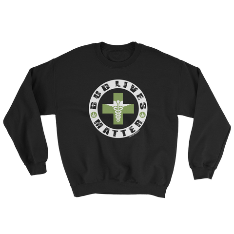 Bud Lives Matter-Circle Green Med-Rev Cross Sweatshirt
