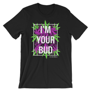 I'm Your Bud-Leaves Purple Reverse Short-Sleeve Unisex T-Shirt