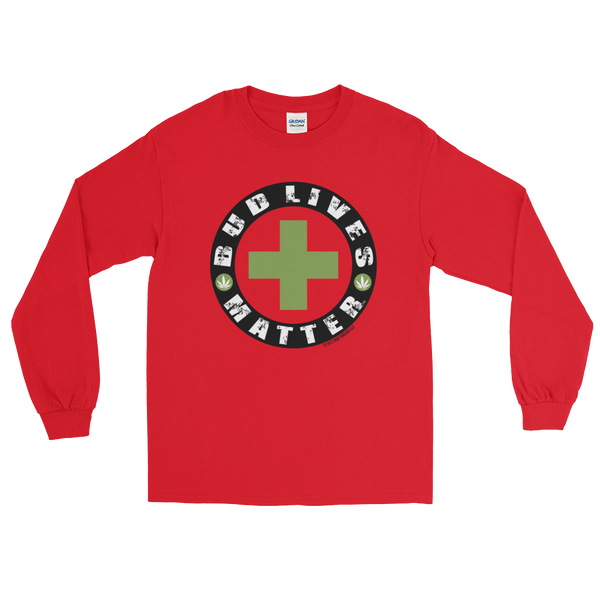 Bud Lives Matter-Circle Green Cross Long Sleeve T-Shirt