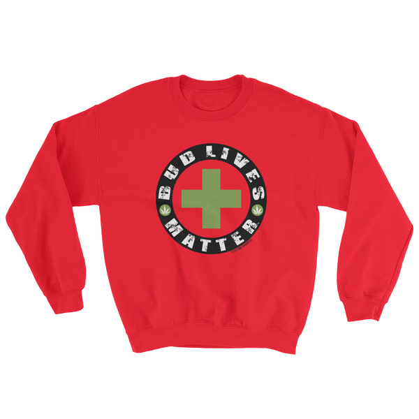 Bud Lives Matter-Circle Green Cross Sweatshirt