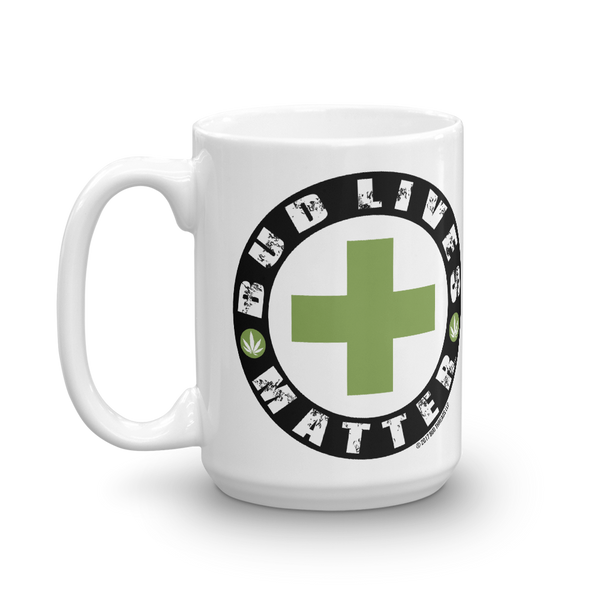 Bud Lives Matter-Green Cross Mug