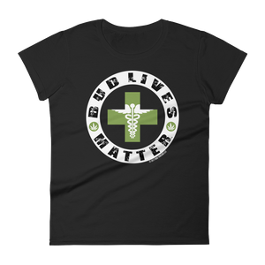 Bud Lives Matter-Circle Green Med-Rev Cross Women's short sleeve t-shirt