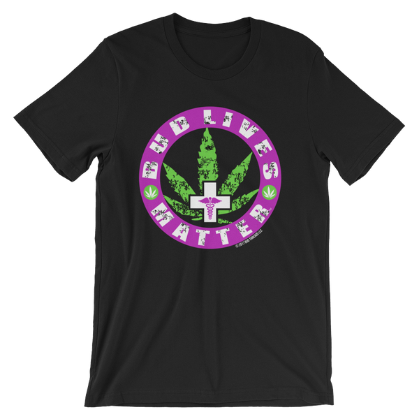 Bud Lives Matter-Purple Circle Med Cross Short-Sleeve Unisex T-Shirt