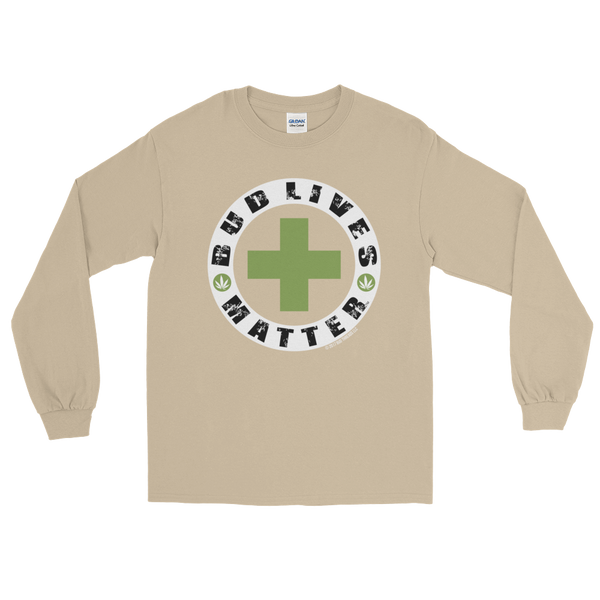 Bud Lives Matter-Circle Green Rev Cross Long Sleeve T-Shirt