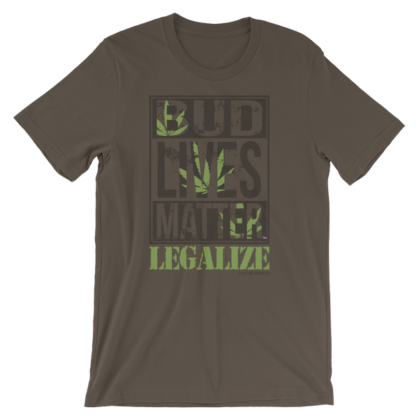 Bud Lives Matter Legalize-Short-Sleeve Unisex T-Shirt