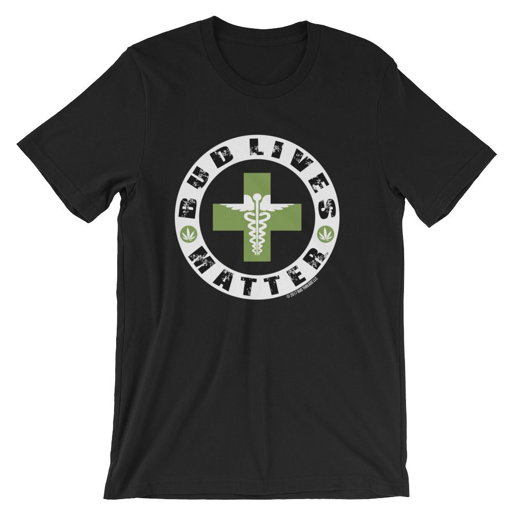 Bud Lives Matter-Circle Green Med-Rev Cross Short-Sleeve Unisex T-Shirt