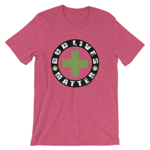 Bud Lives Matter-Circle Green Cross Short-Sleeve Unisex T-Shirt