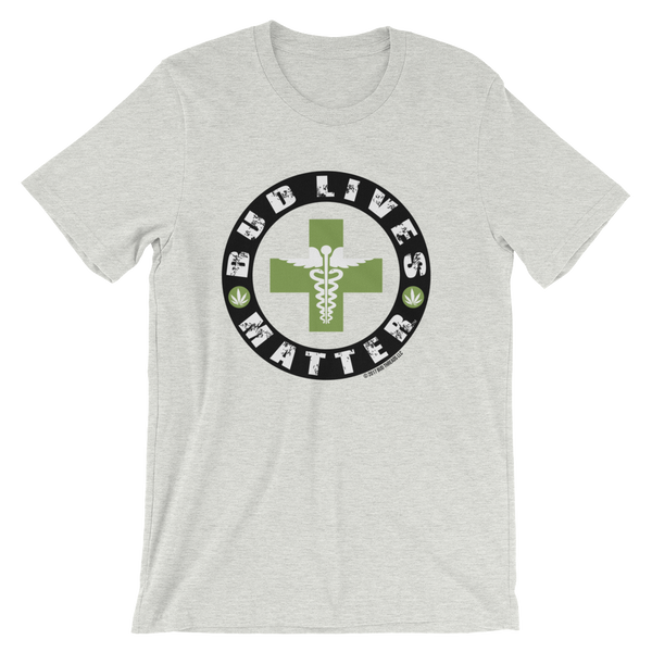 Bud Lives Matter-Circle Green Med Cross Short-Sleeve Unisex T-Shirt