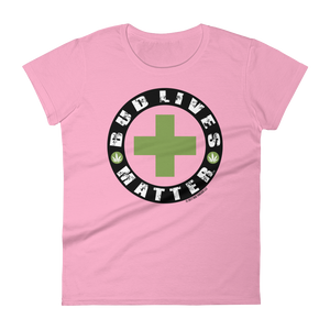 Bud Lives Matter-Circle Green Cross Women's short sleeve t-shirt
