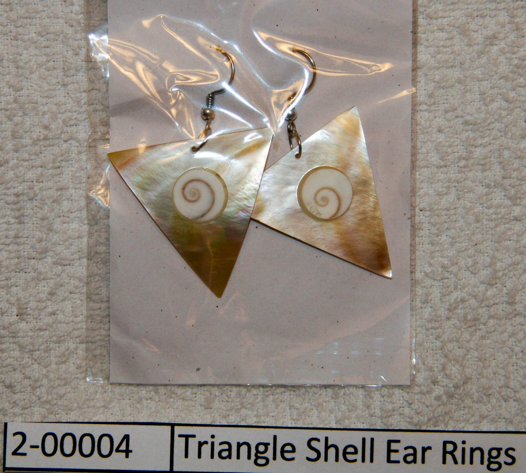 Triangle Shell Ear Rings