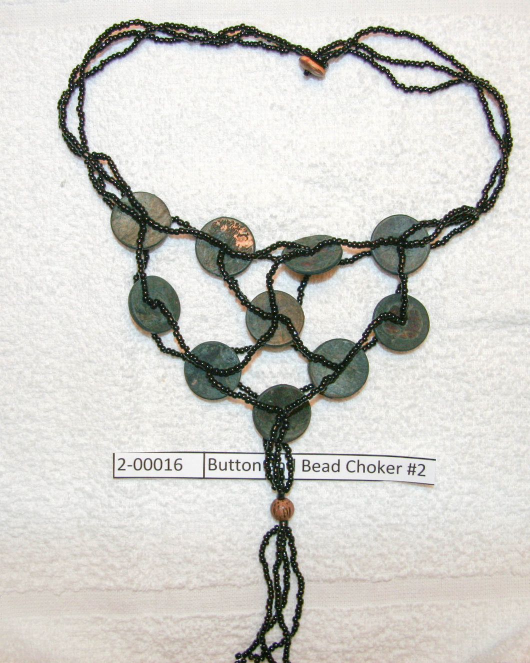 Button and Bead Choker #2