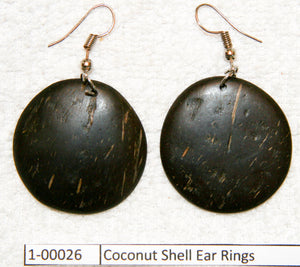 Coconut Shell Ear Rings