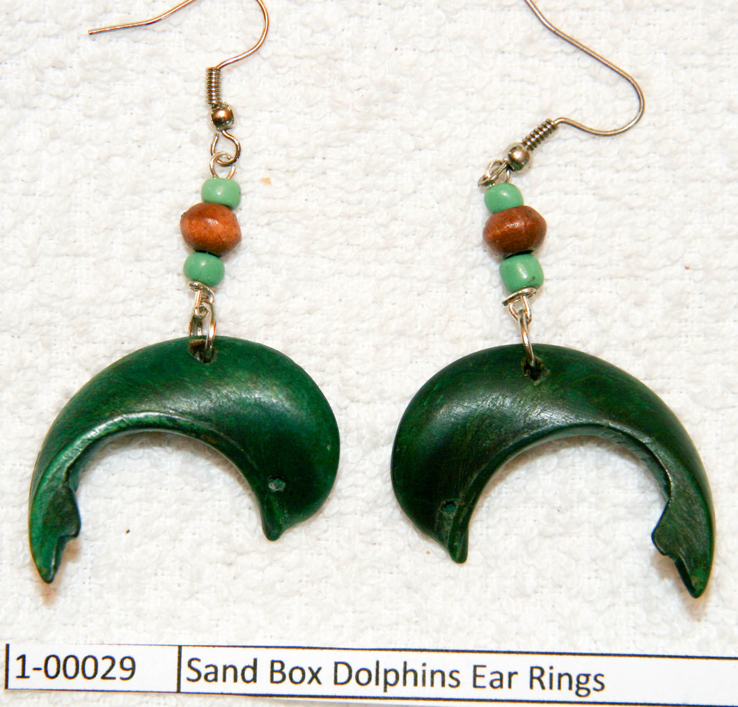 Sand Box Dolphins Ear Rings