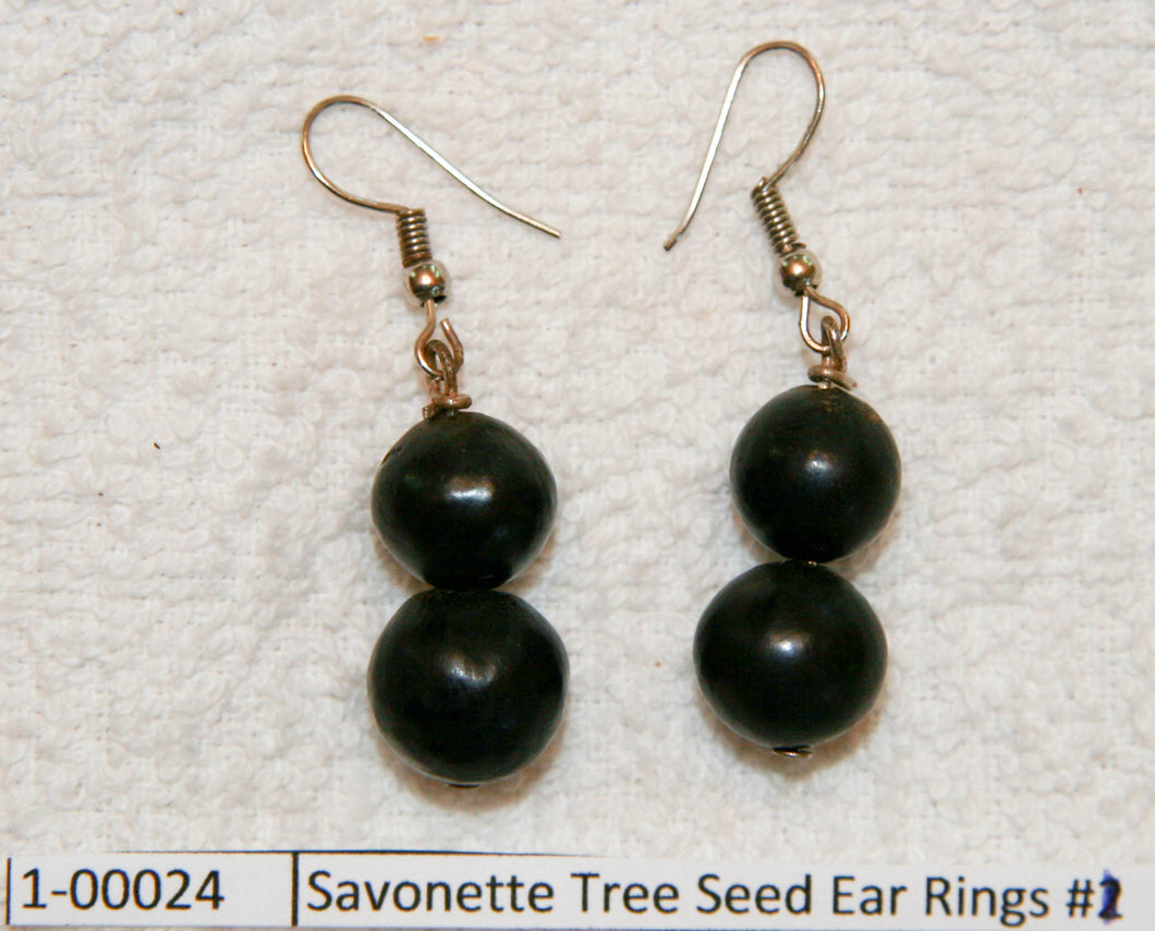 Savonette Tree Seed Ear Rings #1