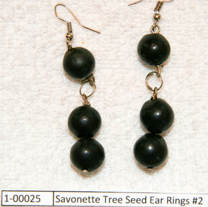 Savonette Tree Seed Ear Rings #2