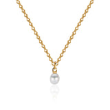 22k Gold South Sea Pearl Necklace with Ancient-Style Hand-Wrought Chain