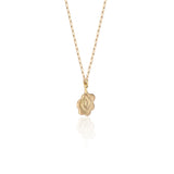 18K Yellow Gold Rain Cloud Pendant Necklace