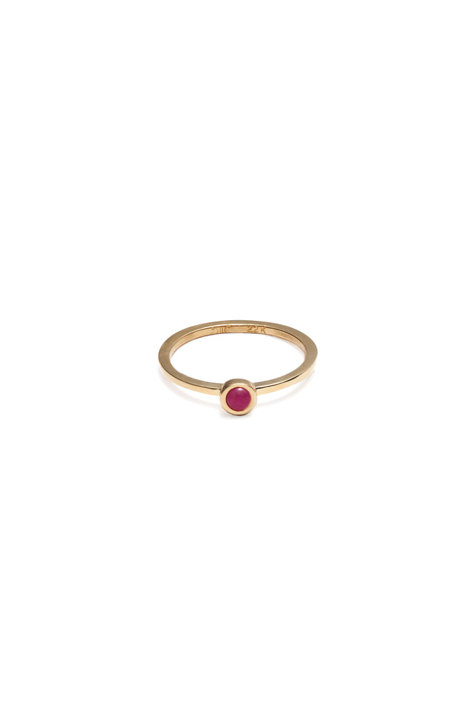 Stackable Bezel Rings with Diamonds, Rubies and Tanzanites