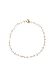 22k Gold Rainbow Moonstone Rondelle Necklace