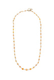 Ethiopian Opal Bead Wire-Wrap Necklace 22k Yellow Gold