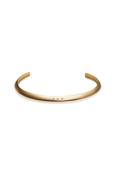 22k Gold Cuff Bracelet with Diamond Melee