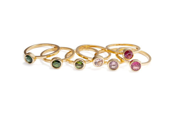 Tourmaline Stackable Ring