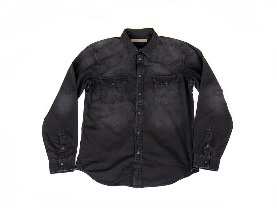 Black Denim Buttondown