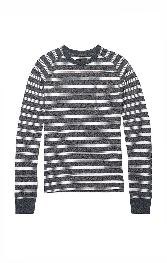 Jaspe Striped Raglan