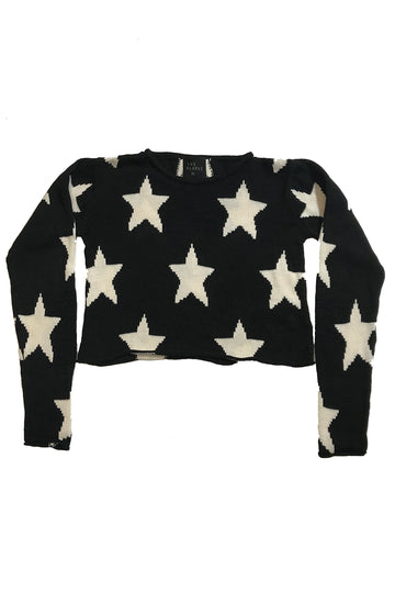 Stars Cropped Knit