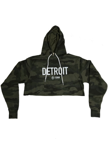 Cropped Detroit Camo Hoodie