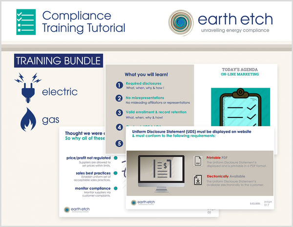 New Jersey Compliance Training Tutorial BUNDLE (Electric & Gas)