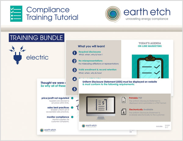 Illinois Compliance Training Tutorial BUNDLE (Electric)