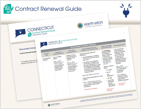 Connecticut Contract Renewal Guide (Electric)