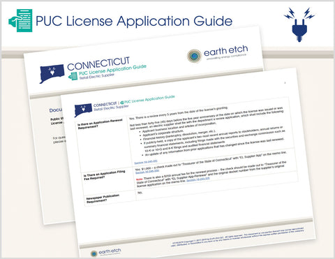 Connecticut PUC License Application Guide (Electric)