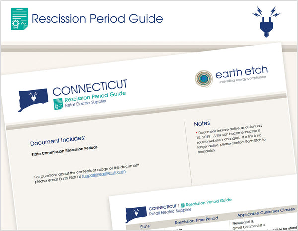 Connecticut Rescission Period Guide (Electric)