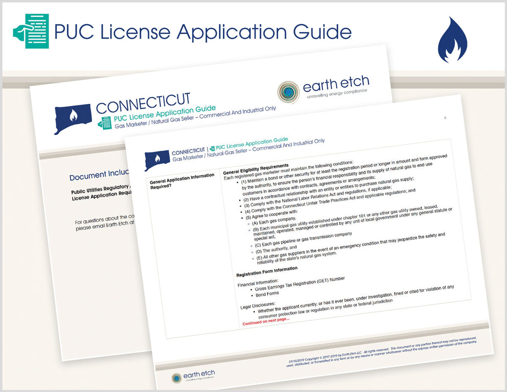Connecticut PUC License Application Guide (Gas)