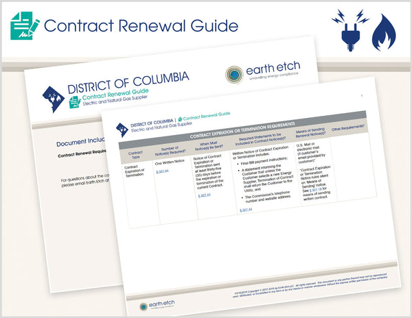 District of Columbia Contract Renewal Guide (Electric & Gas)