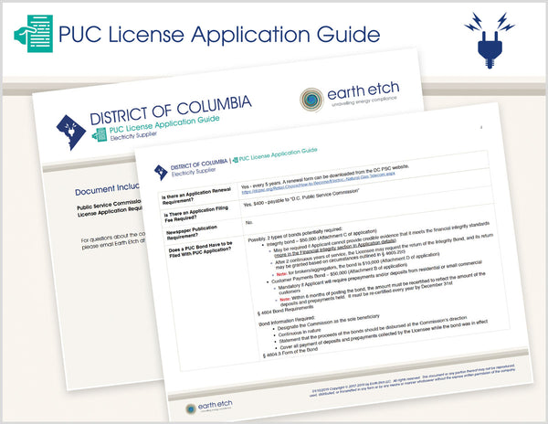 District of Columbia PUC License Application Guide (Electric)