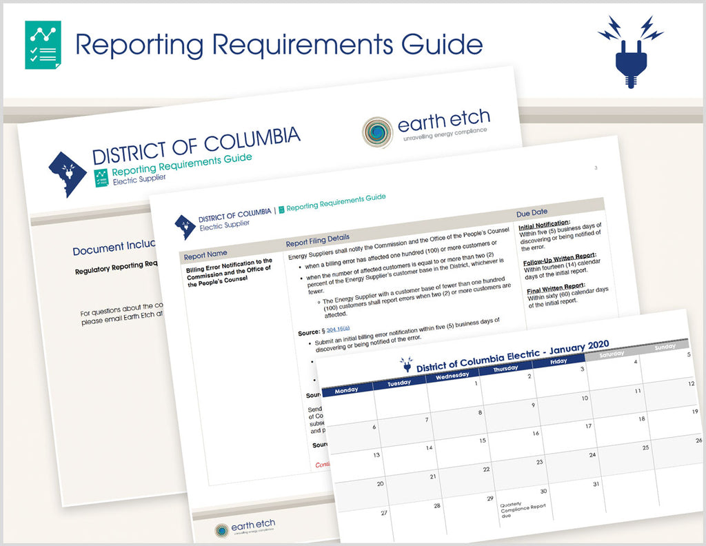 District of Columbia Reporting Requirements Guide (Electric)