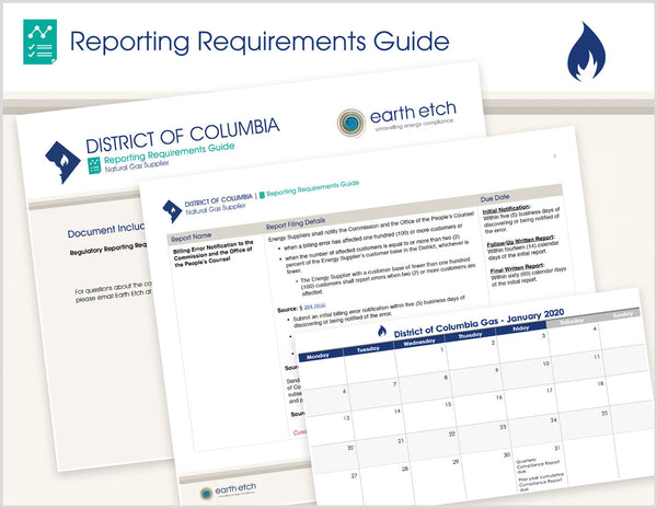 District of Columbia Reporting Requirements Guide (Gas)