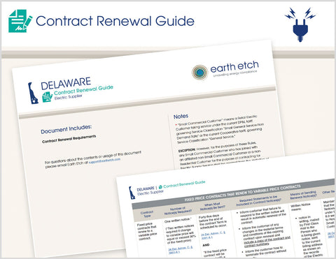 Delaware Contract Renewal Guide (Electric)