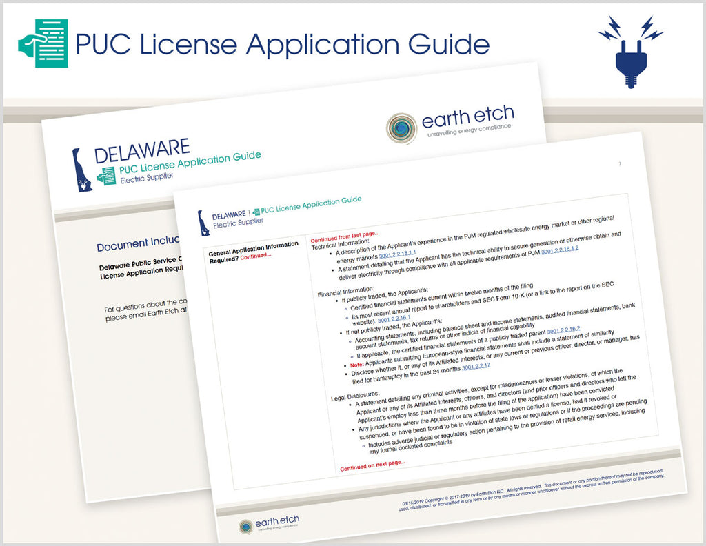 Delaware PUC License Application Guide (Electric)