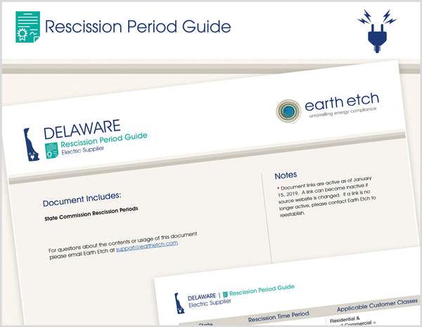 Delaware Rescission Period Guide (Electric)