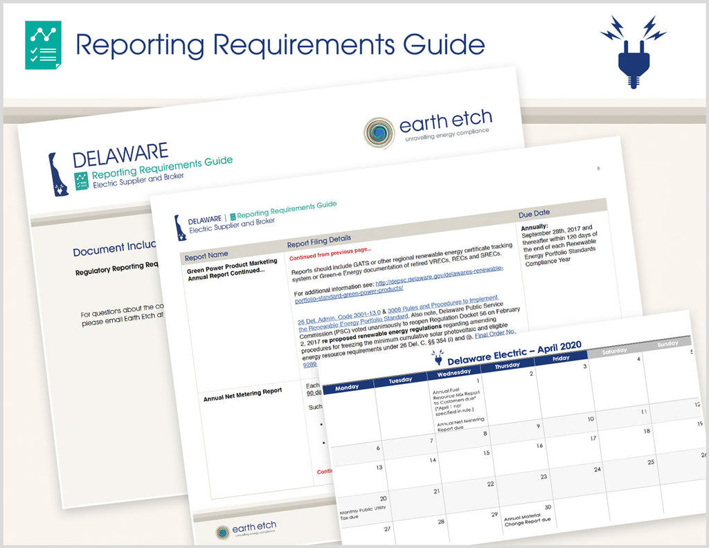 Delaware Reporting Requirements Guide (Electric)